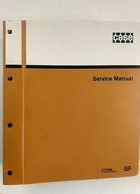 Case DH5 Trencher Service Manual 8-41680 and Parts Manual H15701 in factory file