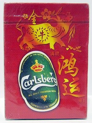 Carlsberg Playing Cards - Year Of The Ox - Us Seller