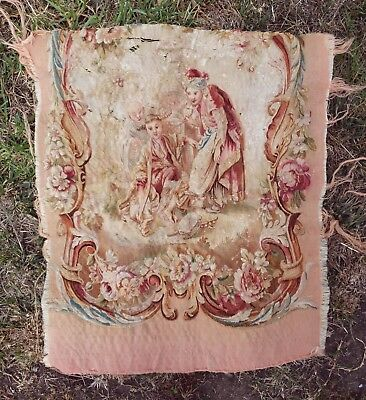 A Sublime Antique Chinoiserie Silk Tapestry Upholstery