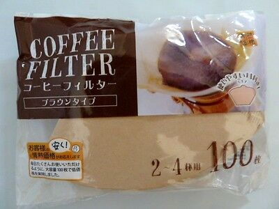 50 x Coffee Drip Filters 100% Virgin Unbleached Pulp Paper  - Made in Germany