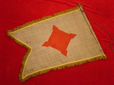 Old Civil War Us 10Th Corps Or Engineer's Flag Or Pennant? Reunion Era?