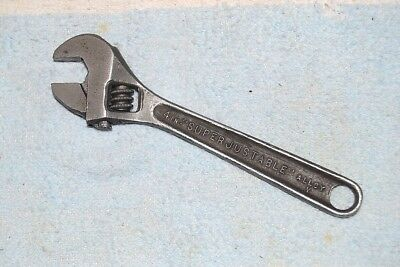WILLIAMS SUPERJUSTABLE ADJUSTABLE WRENCH 4 inch QUALITY VINTAGE USA TOOL