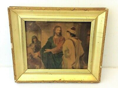 Repro on Canvas or Paper Christ And The Rich Young Ruler by Heinrich Hoffmann