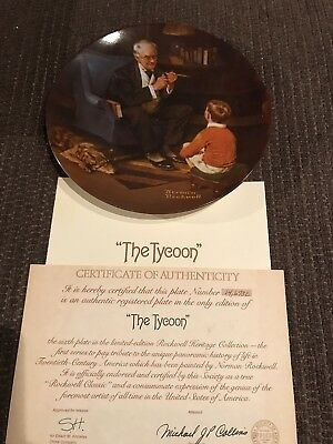 NEW NORMAN ROCKWELL COLLECTOR PLATE (The Tycoon)