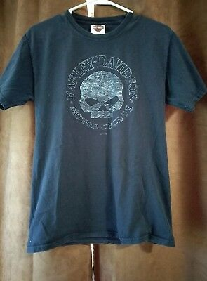 34bc46973 Young Men's Size Small Harley Davidson Short Sleeve Graphic T-Shirt Dark  Blue