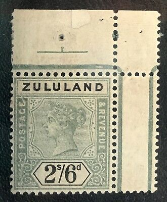ZULULAND. #21 MNH with repairable tear in upper left corner. $90+ CV.