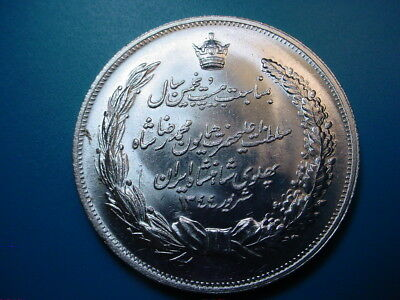 Shah Pahlavi SH1344/1953 Silver Medal 25th Anniversary in Uncirculated Condition
