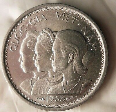 1953 VIETNAM 10 SU - AU/UNC - Great Early Date Coin - LOT #J20