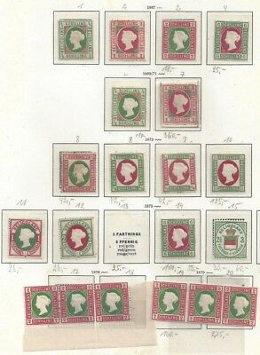 German States Heligoland collection of 20stamps not determined +++++++++
