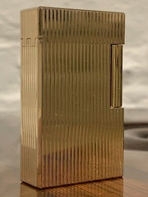 ST DUPONT GOLD PLATED LIGHTER with fitted case