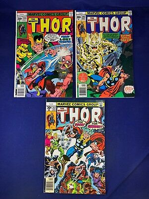 The Mighty Thor #264 263 257 Marvel Comics Bronze Age set lot NO RESERVE
