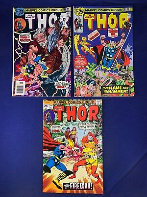 The Mighty Thor #248 247 246 Marvel Comics Bronze Age set lot NO RESERVE