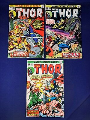 The Mighty Thor #245 243 235 Marvel Comics Bronze Age set lot NO RESERVE