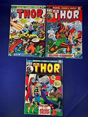 The Mighty Thor #211 210 209 Marvel Comics Bronze Age set lot NO RESERVE