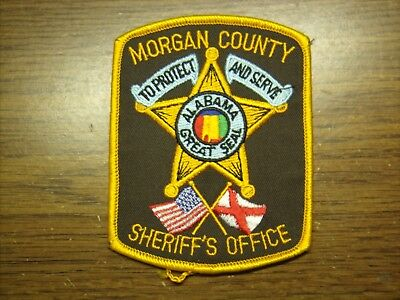 """Police Patch #001 - Morgan County , Alabama - Sheriff's Office - 4-1/2"""" Tall"""