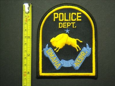 "Police Patch #116 - Omaha , Nebraska - Police Department - 4-1/4"" Tall"