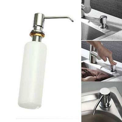 Stainless Steel Lotion/Soap Dispenser Bottle With Pump Kitchen Bathroom Shan