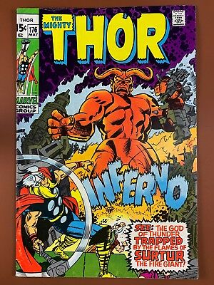 The Mighty Thor #176 (1970 Marvel Comics) Inferno appearance Bronze Age