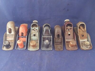 Lot of 7 Block Planes Stanley Sargent Craftsman