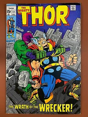 The Mighty Thor #171 (1970 Marvel Comics) The Wrecker appearance Bronze Age