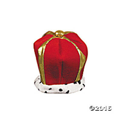 """Red Plush Velvet And Lamé Crown 11"""" x 12"""" FREE U.S. First Class SHIP !!"""