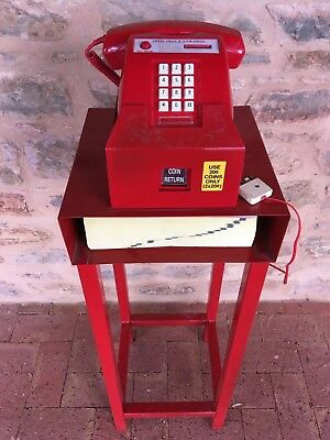 Red Coin Phone/telephone With Red Stand