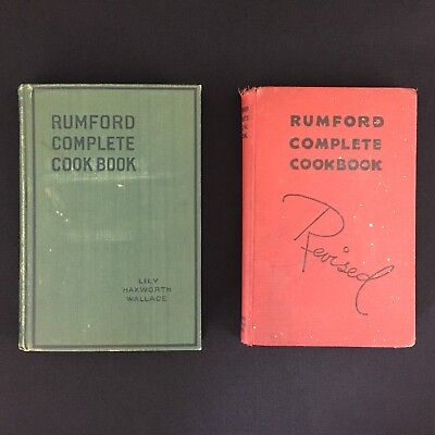 Vtg 1918 1936 Rumford Complete Cookbooks Revised Lily Wallace Providence Rhode I