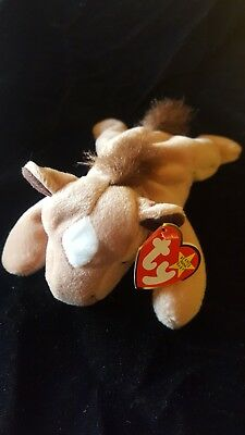 Ty Beanie Baby, Derby the Horse, Original Babies Collection, 1995-FREE SHIPPING