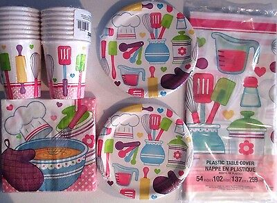 LITTLE CHEF Birthday Party Supply DELUXE Kit w// Loot Bags /& Invitations