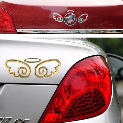 3D Red/Gold/Silver Guardian Wings Car Sticker 3D Graphics Decal SA