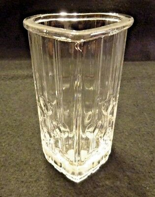 Vintage AVON Fostoria Heart Shaped Clear Glass Vase Valentines' Collectible