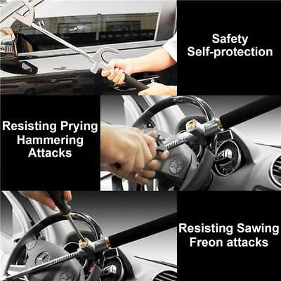 Steering Wheel Bar Lock Adjustable Universal Anti Theft Security System Car SA