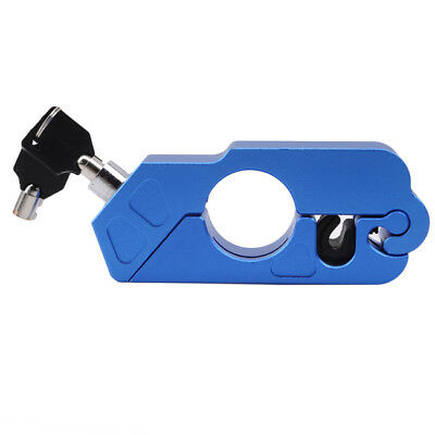 Caps Lock Scooters For Motorcycle Handlebar Brake W/ lever Grip Lock Blue SA