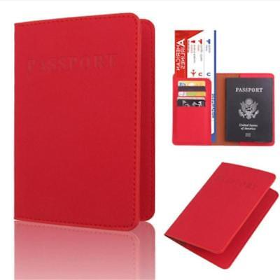 Travel Passport Holder Case Cover, PU Leather RFID Blocking, Wallet Pouch SA