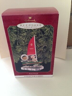 Frosty Friends 1997 Hallmark Ornament in Box, EX condition