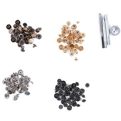 40pcs Press Studs Snap Fasteners with Fixing for Jackets Handbags Accessory Shan