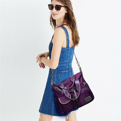 Women's Ladies Outdoor Crossbody Shoulder Handbag Multi Pocket Nylon Bag Shan