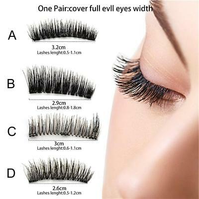 3D Triple Magnetic False Eyelashes Eye Lashes Handmade 4X /2 Pairs SET