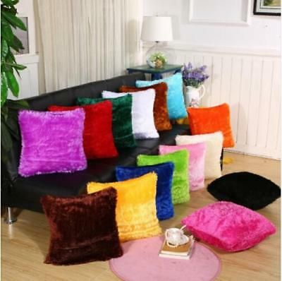 Hairy Shaggy Faux Fur Cushion Covers / Pillowcases Come in 15 Colours Shan