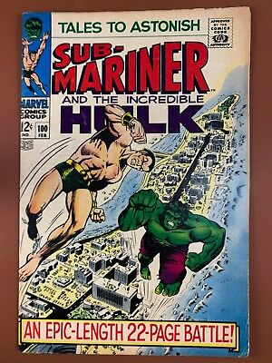 Tales to Astonish #100 (1968 Marvel) Hulk and Sub-Mariner appearance NO RESERVE