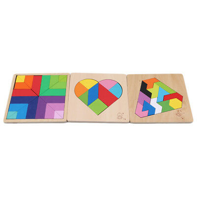 Children Puzzle Kids Wooden Educational Toys Heart Shape Jigsaw Puzzle Toys Shan