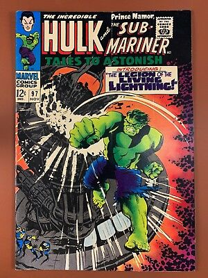 Tales to Astonish #97 (1967 Marvel) Hulk and Sub-Mariner appearance NO RESERVE