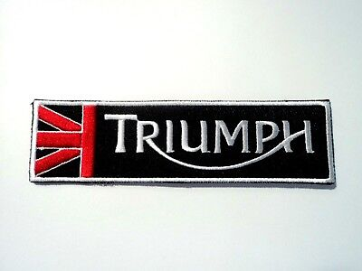1x Black Triumph Logo Patches Embroidered Cloth Applique Badge Iron Sew On
