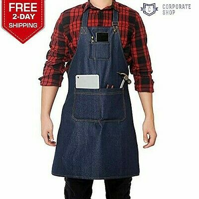 Jean Tool Apron with Pockets Waterproof Waxed Canvas Apron for Men and Women NEW