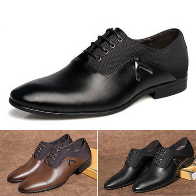 Men's Leather Shoes US Dress Formal Oxfords Business Casual Fashion