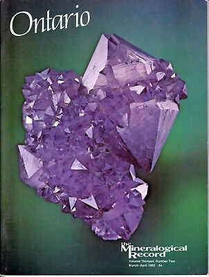 MINERALOGICAL RECORD: 1982 Volume 13, Number 2, Mar-Apr, ONTARIO
