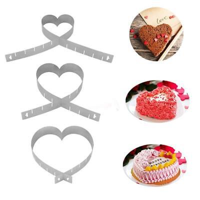 Adjustable Stainless Steel DIY Mousse Cake Ring Mold Heart Shape Layer Cutter SS