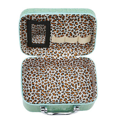 Cosmetic Train Case Storage Box Travel Luggage Carry With Small Mirror Shan