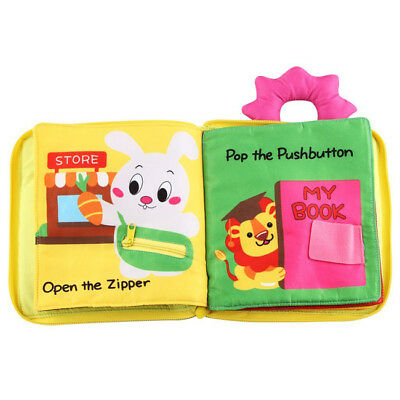 Baby 3D Quiet Book Soft Touch Cloth Books Early Educational Toy Gift SA