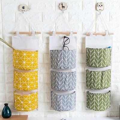 Home Hanging Storage Organizer Container Bedside Wardrobe Toiletry Door Wall SS